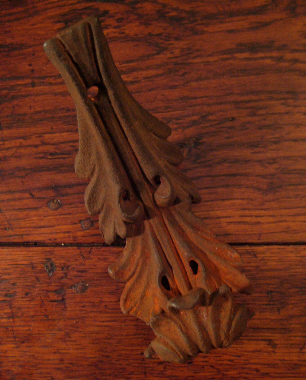 19th Century Iron Acanthus Leaf Plant Hanger Hook