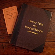 SALE Leather Bound Volume 1 - Great Men & Famous Women, 1894