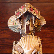 SALE 19th Century Spanish Shell Art Souvenir, Circa 1890