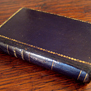 SALE 19th Century Miniature Leather Bound The Pilgrim's Progress