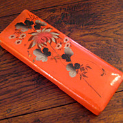 SALE Early Vintage Japanese Red Lacquer Box