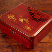 SALE Vintage Large Japanese Lacquer Box, Circa 1940