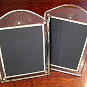 SALE Pair Of Art Deco Mirrored Picture Frames, Circa 1920