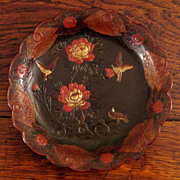 SALE 19th Century Pair Of Japanese Lacquer Plates