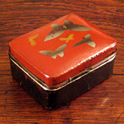 SALE Small Vintage Japanese Lacquer Box, Circa 1940