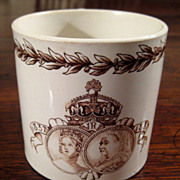 SALE Doulton Burslem Queen Victoria Jubilee Mug, 1887