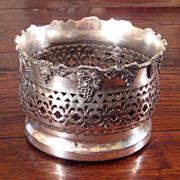 SALE 19th Century Silver Plate Wine Coaster, E.G. Webster & Son