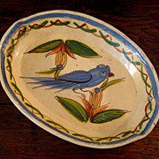 SALE Early Vintage Mexican Pottery Serving Tray, Circa 1930