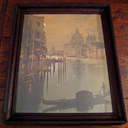 SALE Fantastic Antique Hand-Colored Photograph Of Venice Italy, Circa 1900