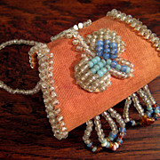 SALE Early Vintage Iroquois Beaded Change Purse, Circa 1910