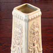 SALE Fantastic Large Weller Pottery Clinton Ivory Putti Vase, Circa 1900