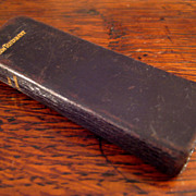 SALE Miniature Antique Leather New Testament Bible, Circa 1890