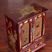 SALE Early Vintage Asian Lacquered Chest, Circa 1920