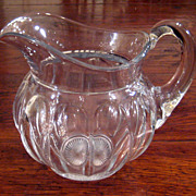 SALE Large Early Vintage Signed Heisey Glass Pitcher