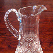 SALE Vintage Cut Crystal Pitcher, Circa 1930