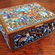 SALE Fine 19th Century Chinese Enamel Box, Circa 1875