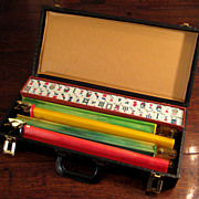 SALE Vintage Mah Jong Set, Circa 1966