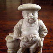 SALE 19th Century German Pottery Figure Of A Chef, Circa 1860