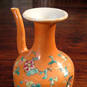 SALE Chinese Floral Enameled Porcelain Tea Pot, Circa 1910