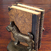 SALE Vintage Pair Of Cast Iron Scottie Dog Book Ends, Circa 1940