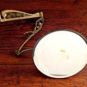 SALE 19th Century Expandable Arm Brass Shaving Mirror, Circa 1880