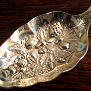 SALE Vintage Silver Plate English Berry Spoon, Circa 1920