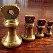 SALE 19th Century Brass Weight Set, Circa 1880