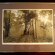 SALE Vintage Signed Limited Edition Lithograph Titled West Virginia Dawn