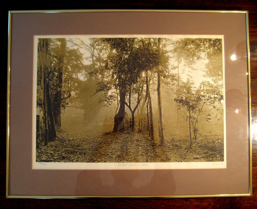 Vintage Signed Limited Edition Lithograph Titled West Virginia Dawn