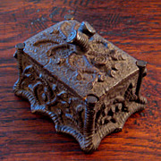 SALE 19th Century Brown Ware Match Holder/Strike, Circa 1860