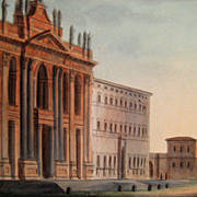 SALE 19th Century Italian Grand Tour Water Color Painting, Circa 1875