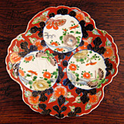 SALE 19th Century Japanese Imari Leaf Plate/Bowl