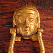SALE Vintage Cast Iron King Tut Door Knocker, Circa 1920