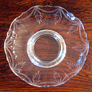 SALE Vintage Sterling Silver & Cut Crystal Dish, Circa 1940