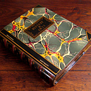 SALE Vintage Lacquered Wood History Of Arts Book Box