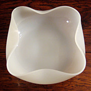 SALE Vintage French White Opaline Glass Bowl, Circa 1920