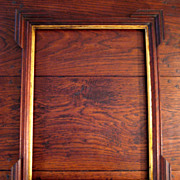 SALE Antique Walnut Tramp Art Picture Frame With Water Gilt Lining, Circa 1900
