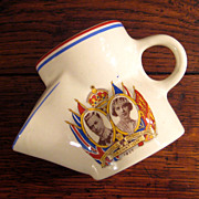 SALE King George VI Coronation Shaving Mug Scuttle Cup, Circa 1937