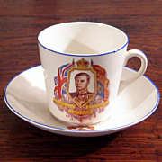 SALE King Edward VIII Coronation Cup & Saucer, Circa 1937