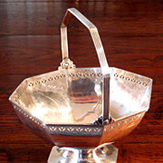 SALE 19th Century Reed & Barton Silverplate Handled Basket, Circa 1880