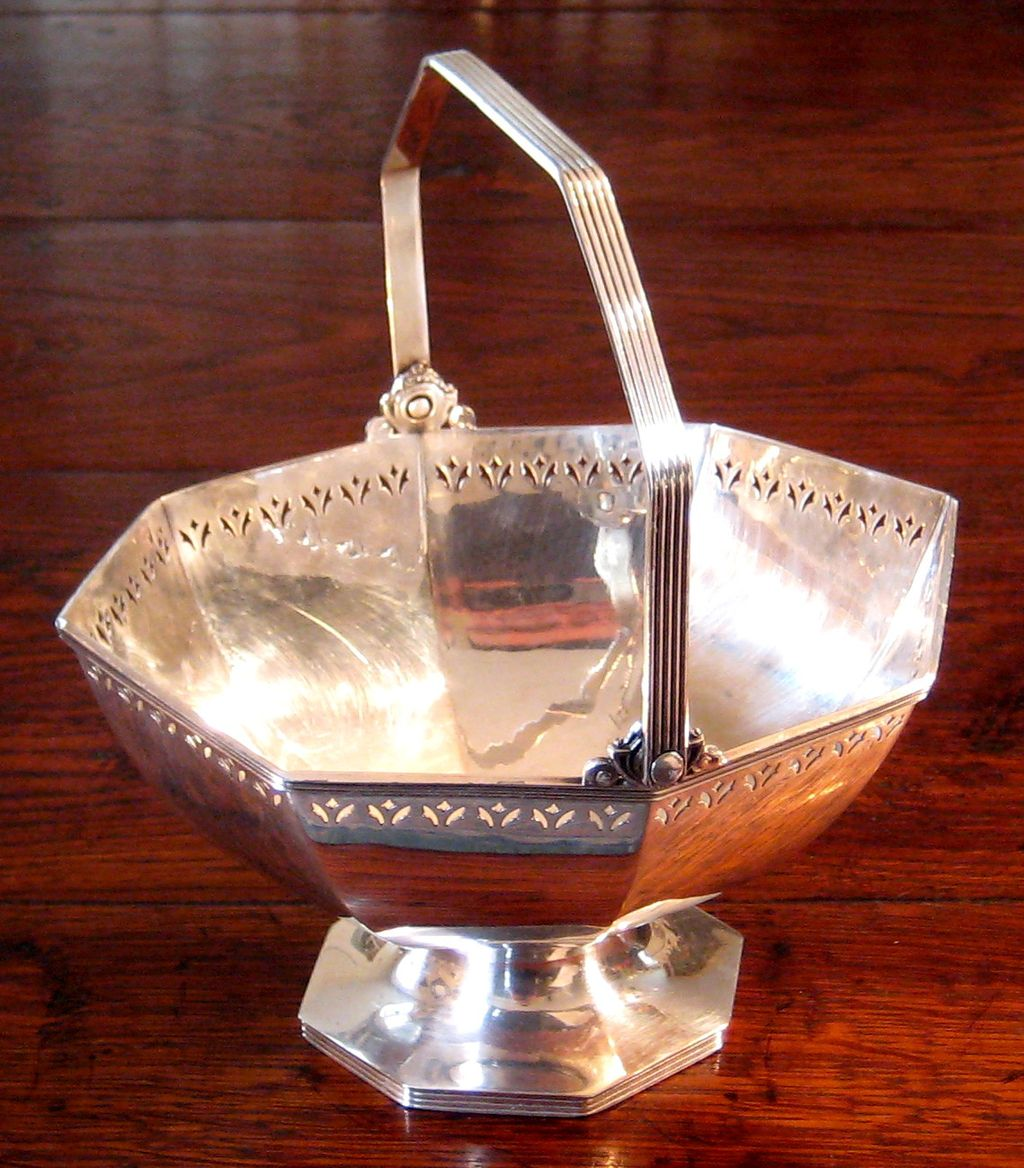 19th Century Reed & Barton Silverplate Handled Basket, Circa 1880