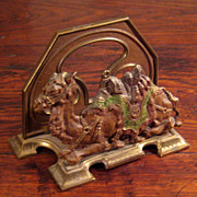 SALE Antique Judd Mfg. Company Cast Iron Camel Letter Holder, Circa 1910