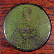 SALE 19th Century Lacquer Portrait Snuff Box, Circa 1850