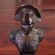 SALE Vintage Bronze Finish Metal Bust Of Napoleon, Circa 1940