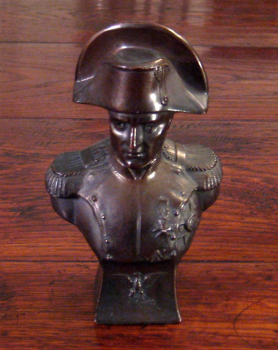 Vintage Bronze Finish Metal Bust Of Napoleon, Circa 1940