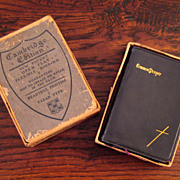 SALE 19th Century Boxed Set Book Of Common Prayer & Hymnal, Circa 1889