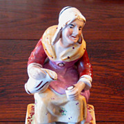 SALE 19th Century Staffordshire Figure Of The Cobbler's Wife, Circa 1870