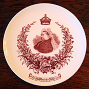 SALE 19th Century Queen Victoria Jubilee Plate, Circa 1887