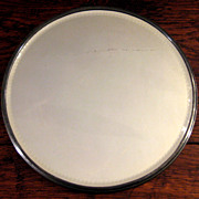 SALE Vintage Art Deco Silver Plate Beveled Edge Mirror Plateau, Circa 1930