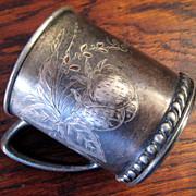 SALE Charming Victorian Silver Plate Baby Cup, Circa 1890